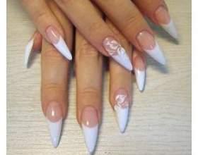 Акрилове нарощування нігтів фото