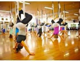Антігравіті йога або йога в повітрі фото