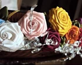Квіти зі стрічок для торжества і на кожен день фото