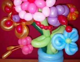 Квіти з повітряних кульок - основи аеродизайну фото