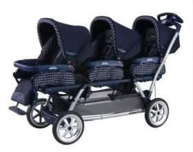 Дитяча коляска для трійні: як не помилитися у виборі? фото