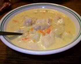 Фото і рецепт сирного супу з куркою фото