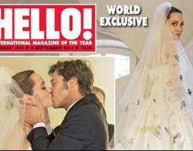 Фото весілля джолі та питта з'являться на обкладинці глянцевого журналу фото