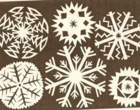 Як зробити новорічні сніжинки з паперу фото