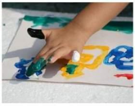 Як і що малювати пальчиковими фарбами з дитиною фото