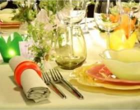 Як накрити святковий стіл для банкету фото