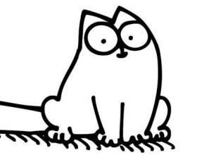 Як намалювати кота саймона простим олівцем поетапно? фото