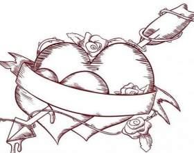 Як намалювати серце: кілька варіантів фото