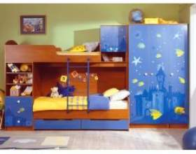 Як облаштувати дитячу спальню на 2 дитини фото
