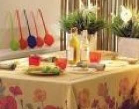 Сервіровка святкового столу на дачі фото