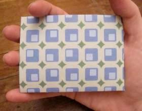 Як зробити з паперу гаманець фото