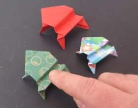 Як зробити жабу з паперу якісно? фото