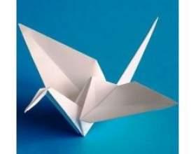 Як зробити орігамі журавлика фото