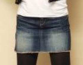 Як зшити з джинсів спідницю фото
