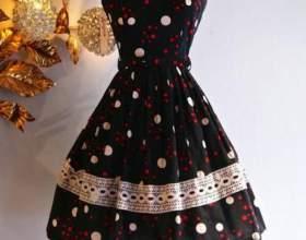 Як зшити плаття зі спідницею-сонце фото