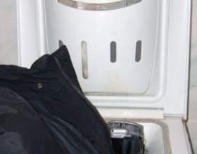 Як прати пуховик в пральній машині фото
