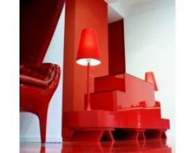Червоний колір в інтер'єрі фото