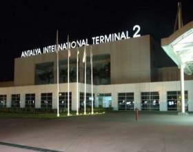 Курортний аеропорт в туреччині. фото