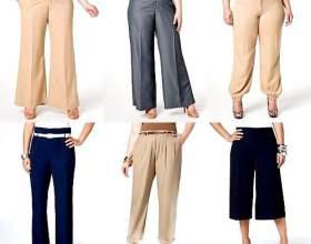 Модні брюки для повних жінок фото