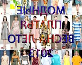 Модні сукні весна-літо 2013 фото