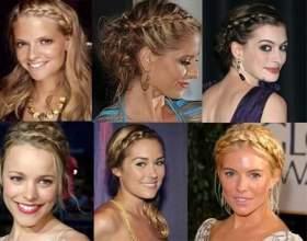 Модний елемент - коса: зачіски на середні волосся собі самій фото