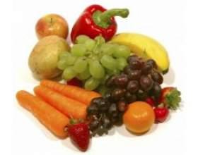 Овочі і фрукти в нашому раціоні фото