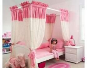 Рожевий колір в дитячій кімнаті фото