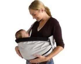 Слінг для новонароджених: способи носіння фото