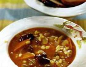 Суп з грибів і перловки фото