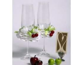 Весільні келихи для шампанського фото