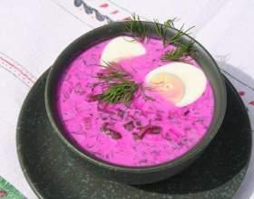 Борщ на кефірі - кращі рецепти фото