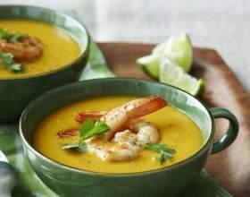 Сирний суп з креветками - свіжо і креативно! фото