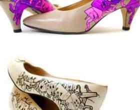Туфлі, розписані вручну фото