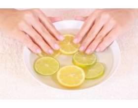Ванночки для нігтів з лимоном фото