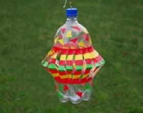 Вертушка з пластикової пляшки - незвичайна прикраса будь-якого дачної ділянки! фото