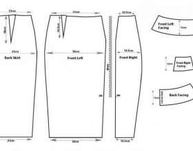 Форма спідниці-олівець: побудова фото