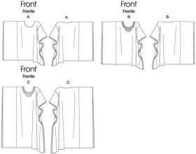 Форма річної блузки з шифону та трикотажу фото